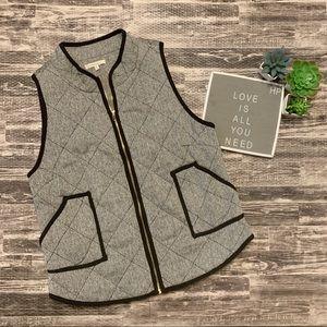 41 Hawthorn Black and White Women's Zip Up Vest